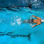 swimmer butterfly stroke
