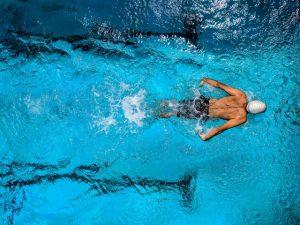 swimmer butterfly stroke